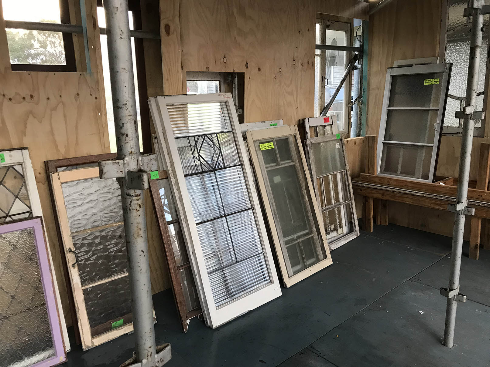 Reclaimed window frames