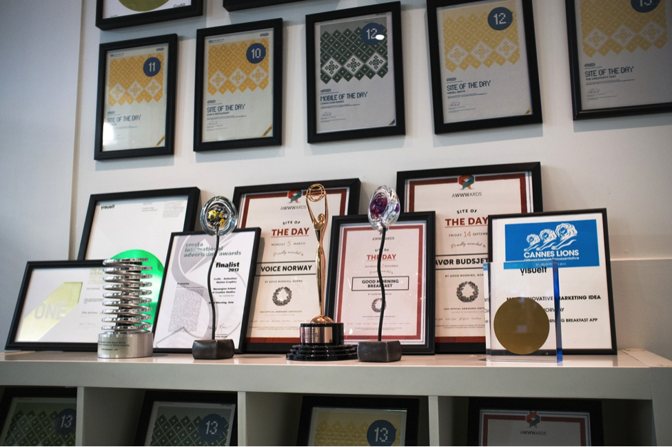 A selection of the 84 awards Good Morning has received