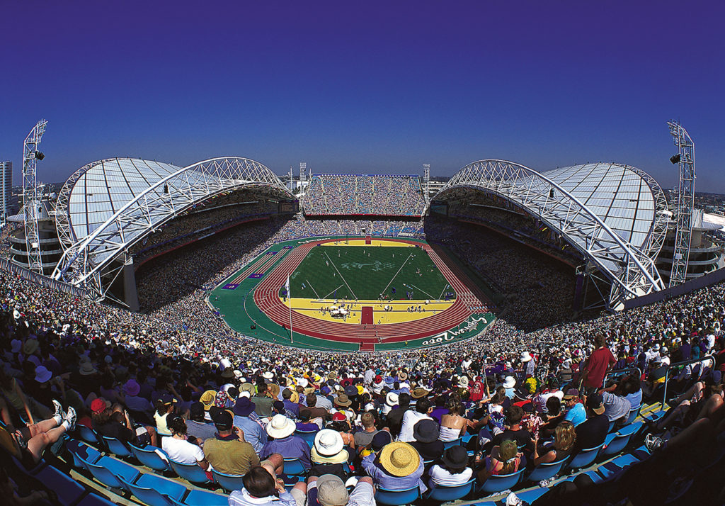 ANZ Stadium, Populous,, photographed by Patrick Bingham-Hall