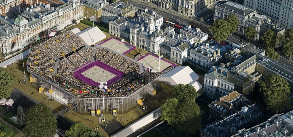 2012 Olympic Beach Volleyball Venue. Design Credit: Populous. Photography Credit: ?