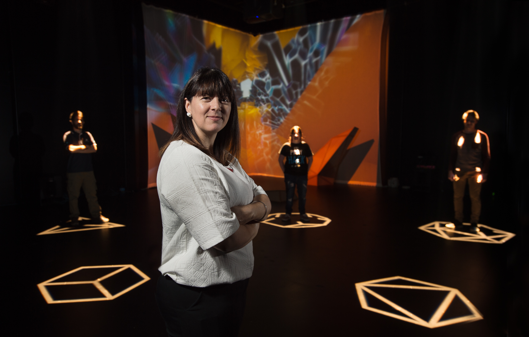 Deb Polson, in the Museum of Colliding Dimensions.