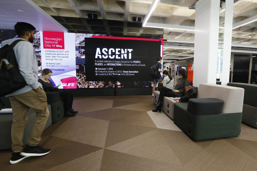 Ascent visual journalism exhibition at QUT