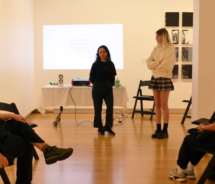 Student artists build community through portfolio event