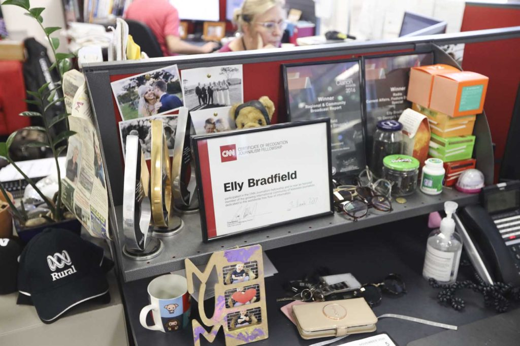 Elly Bradfield's desk.
